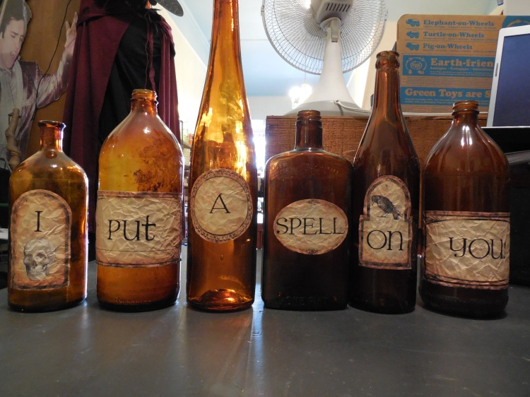 I put a spell on these bottles...